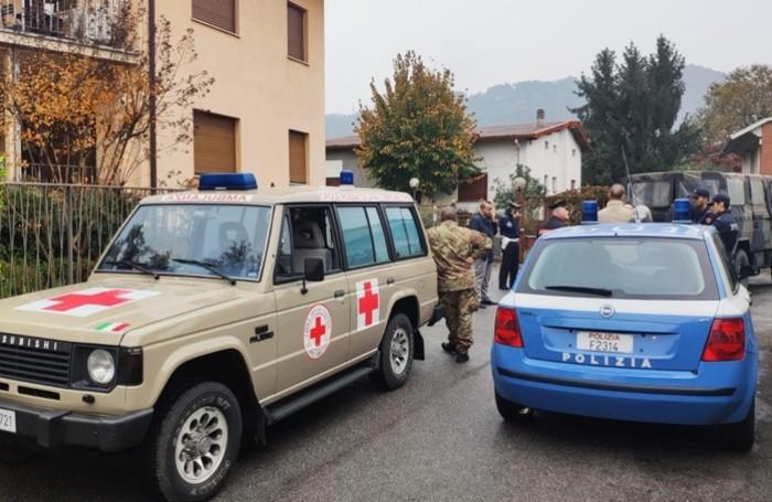 Forze dell'ordine e mezzi di soccorso a Valtesse