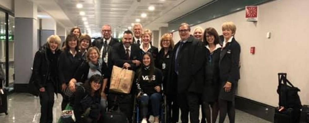 Lety è atterrata a Bergamo: la festa Dopo l'intervento si torna a sperare