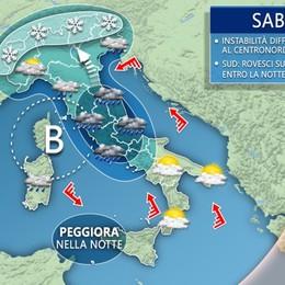 Fine settimana con il brutto tempo La pioggia non risparmia Bergamo