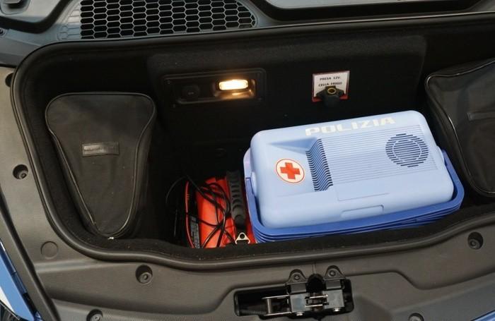 Nel baule della Lamborghini anche un contenitore refrigerante per il trasporto degli organi
