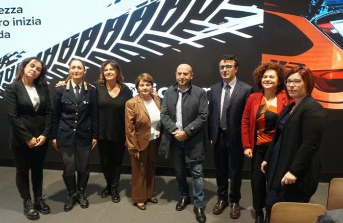 I partecipanti alla presentazione dell'iniziativa «Strade sicure»