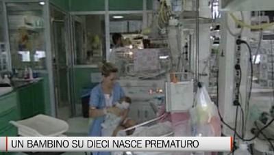 Nati prematuri, uno su dieci in Italia