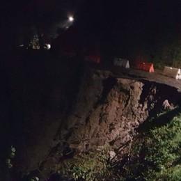 Val Brembilla, frana sulla  strada Passaggio chiuso, disagi per i residenti