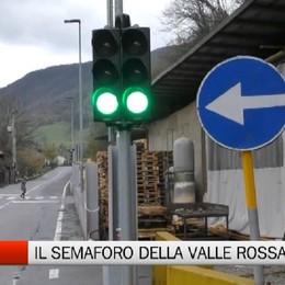 Cene, il semaforo della Valle Rossa