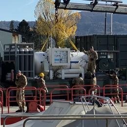 Lago d'Iseo, inizia la bonifica delle bombe Arrivata la Marina, via alle immersioni -Foto