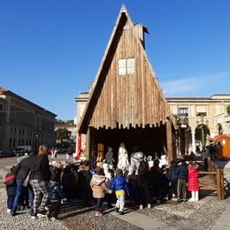 Capanna de «L'Eco» sul Sentierone Primo allestimento dedicato a Santa Lucia