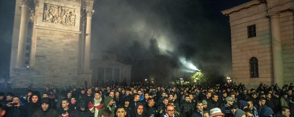 Incidenti pre Atalanta-Dinamo Daspo e denuncia per 9 croati