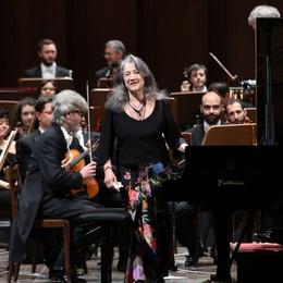 Musica, la pianista Martha Argerich  inaugura il Festival Bergamo e Brescia
