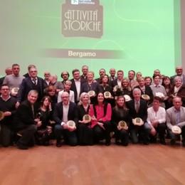 Premiate in Regione 38 attività storiche «Tesoro inestimabile per la Bergamasca»