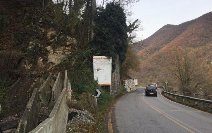 Valle Imagna, chiude la strada a Strozza Venerdì notte lavori sulla provinciale 14