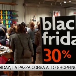 Black Friday, la pazza corsa allo shopping
