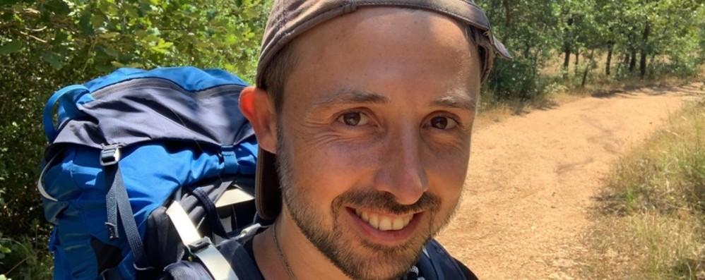 Marco e l'impresa per la sclerosi multipla Seimila km a piedi per dare voce ai malati