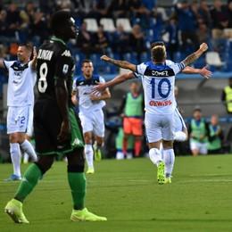 Atalanta schiacciaSassuolo (4-1). Primo tempo perfetto: doppietta di Gomez e gol di Gosens e Zapata