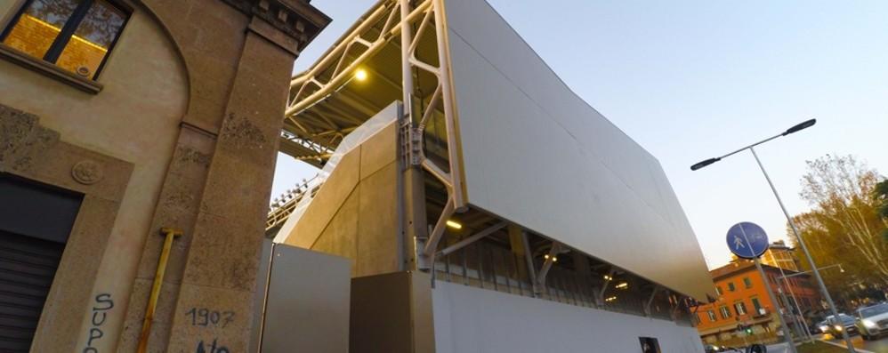 Bergamo, le facciate dello stadio?  In arrivo una soluzione «metallizzata»
