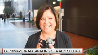 La Primavera dell'Atalanta in visita all'ospedale di Bergamo