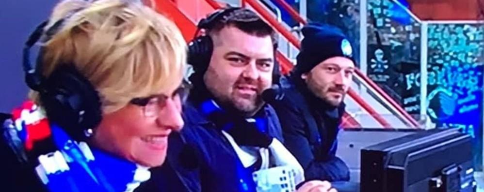 Sorte e Ferla commentatori in Tv A Genova per «Quelli che il calcio»