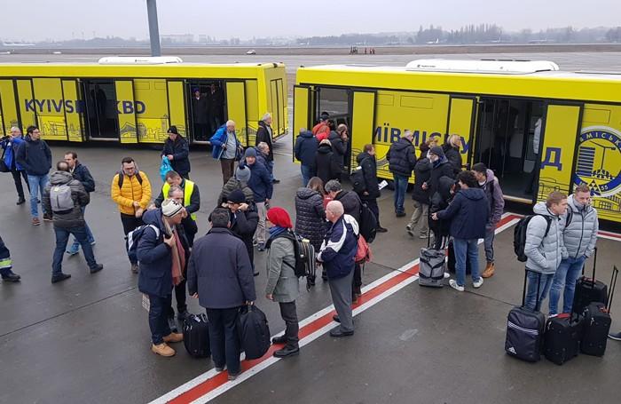 I tifosi rimasti bloccati ieri a Kharkiv