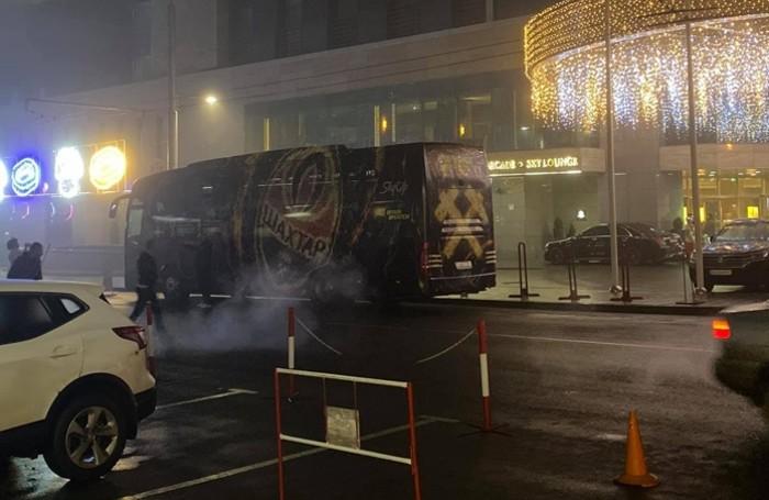 Il bus su cui hanno viaggiato i tifosi atalantini da Kiev a Kharkiv