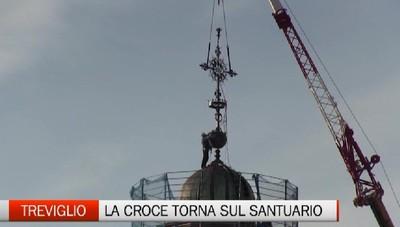 La Croce torna sul Santuario di Treviglio. E' giallo sul proiettile che ha colpito la sfera sottostante