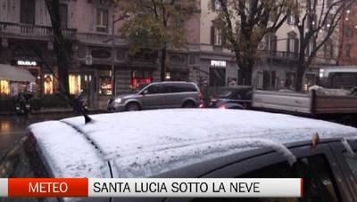 Santa Lucia porta la neve. Bergamo e Treviglio si colorano di bianco in attesa della festa