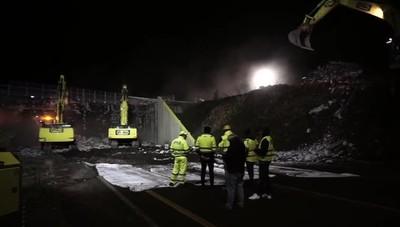 Demolizione del ponte sulla Briantea a Curno