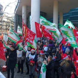 Sciopero Conad-Auchan a Milano Anche i bergamaschi alla manifestazione
