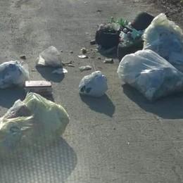 Abbandonano rifiuti in mezzo alla strada Individuati e multati a Brignano - Foto