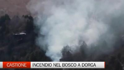 Castione, un nuovo incendio a Dorga