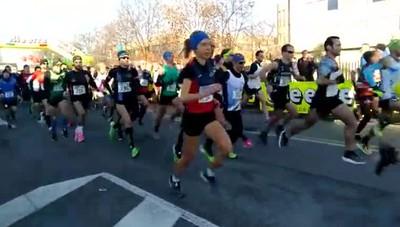 Dalmine, la partenza dei 700 atleti della mezza maratona del Brembo