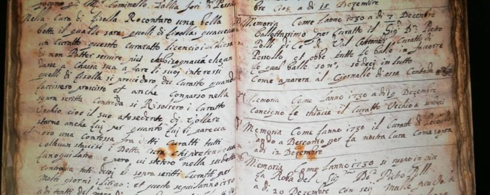Diario di un contadino del '700 La Valle di Scalve nelle pagine di Comino