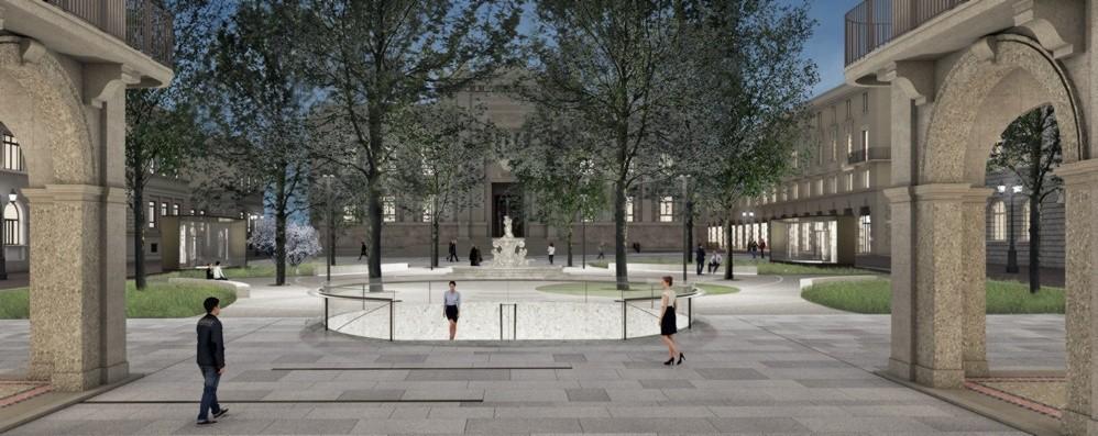 È l'ora di piazza Dante: ecco come sarà Via al cantiere del nuovo centro - Foto