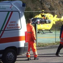 Fiumenero, malore  per un uomo di 66 anni Interviene l'Elisoccorso da Bergamo
