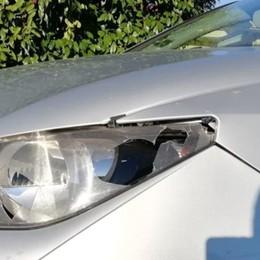 Gorlago, raid nella notte di Natale  Spari in strada e un'auto danneggiata