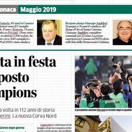Tragedia di Orio, Gimondi e Mattarella  Un anno di cronaca domenica su L'Eco