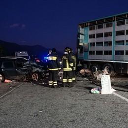 Villa di Serio, schianto  auto-camion Operati, stanno meglio i bimbi di 4 e 7 anni