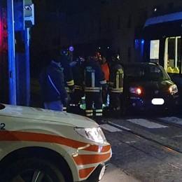 Incidente tra un'auto e il Tram delle Valli Via Martinella, ferita donna di 50 anni