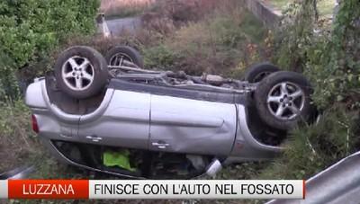 Luzzana, incidente stradale sulla strada della Val Cavallina