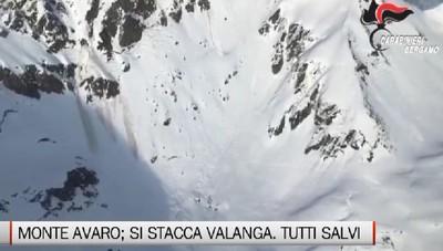 Valanga in Val Brembana: recuperati vivi tre dispersi