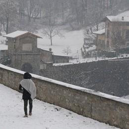 La neve è sempre la neve... -Video La magia dei fiocchi bianchi su Città Alta