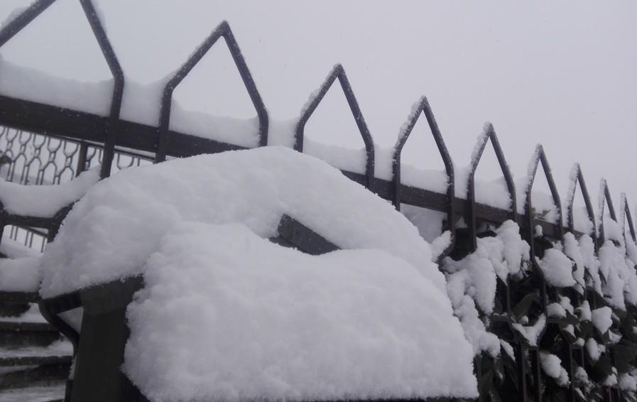 Dieci centimetri di neve a Selvino