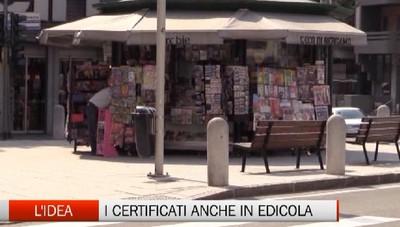 Ottenere certificati anche in edicola  L'idea al vaglio del Comune di Bergamo