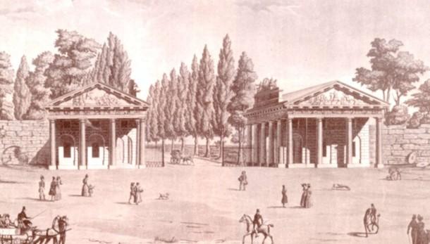 Propilei, la   porta del tempo  Ecco come sono nati 180 anni fa