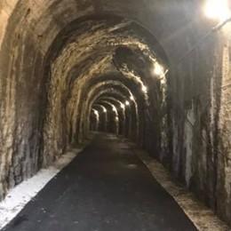 Pista ciclabile da Bergamo a Zogno Nuova luce nelle vecchie gallerie