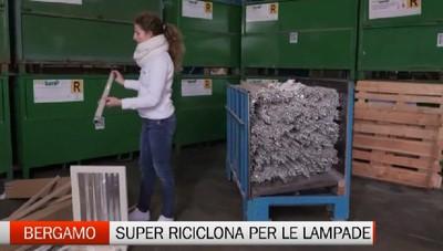 Bergamo super riciclona anche sul fronte delle lampadine