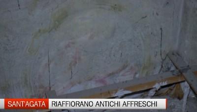 Cantiere di Sant'Agata: riaffiorano gli antichi affreschi
