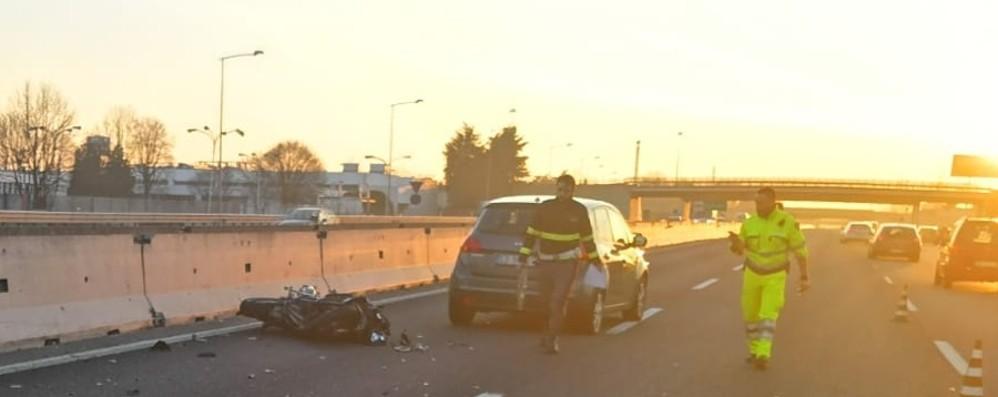 Capriate, incidente in autostrada Giovane 22enne in gravi condizioni