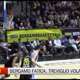 Basket. Bergamo sulle gambe, Treviglio vola