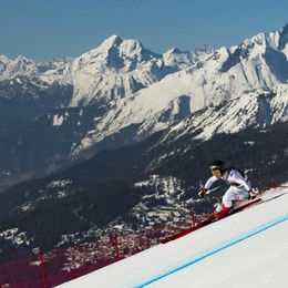 Un anno esatto dall'Oro alle Olimpiadi per Sofia Goggia miglior tempo in prova