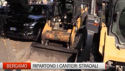 Cantieri per l'asfalto a Bergamo: arriva la seconda parte