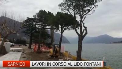 Sarnico: lavori in corso al Lido Fontanì
